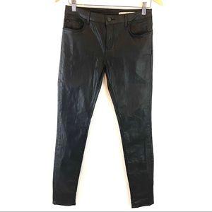 Zara Woman Black Coated Jeans B160